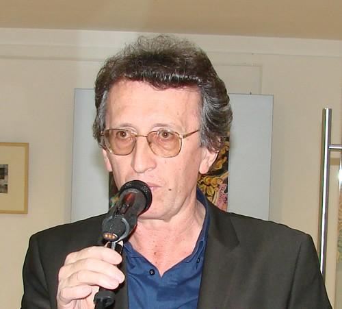 Ranko Pavicevic na otvaranju izlozbe Abaza Dizdarevica