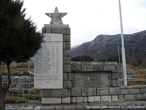 Spomenik palim borcima na vrhu Čelobrda