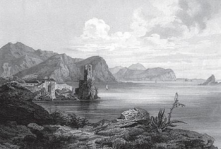 Grafika Castel Lastua iz 1849