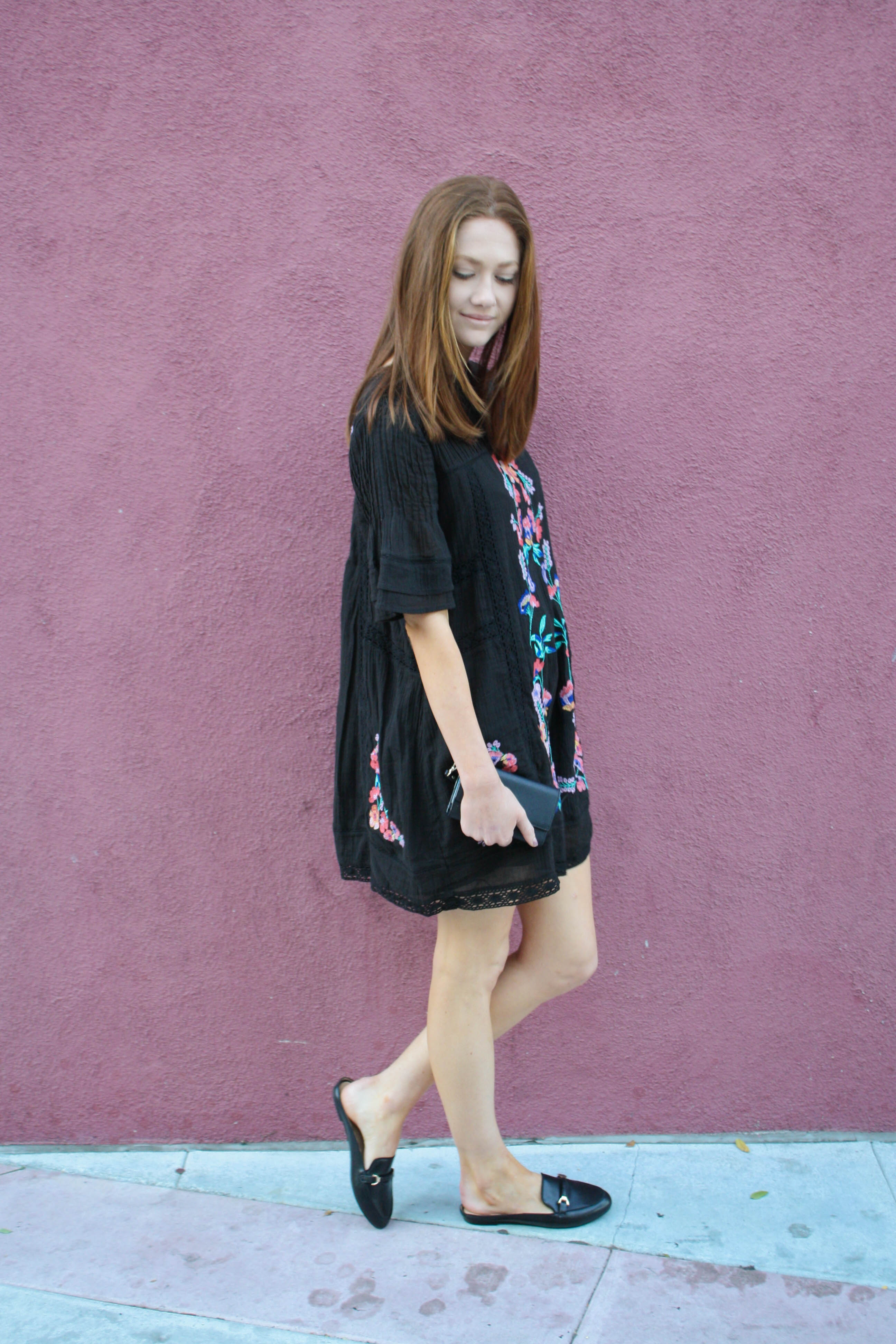 But What Should I Wear Fashion blog wearing free people embroidered floral dress