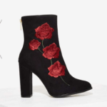Embroidered floral booties from Nasty Gal
