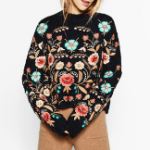 Floral embroidered sweater from zara