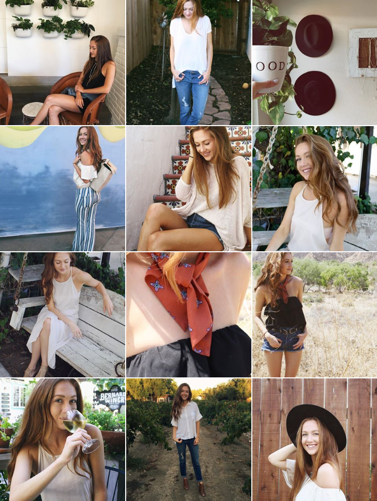 A year in review - 1 year blogging anniversary instagram feed