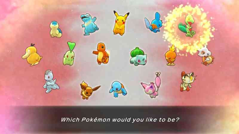 Pokemon mystery dungeon character select