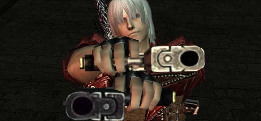 Devil May Cry 3 Special Edition Dante Holding Ebony & Ivory