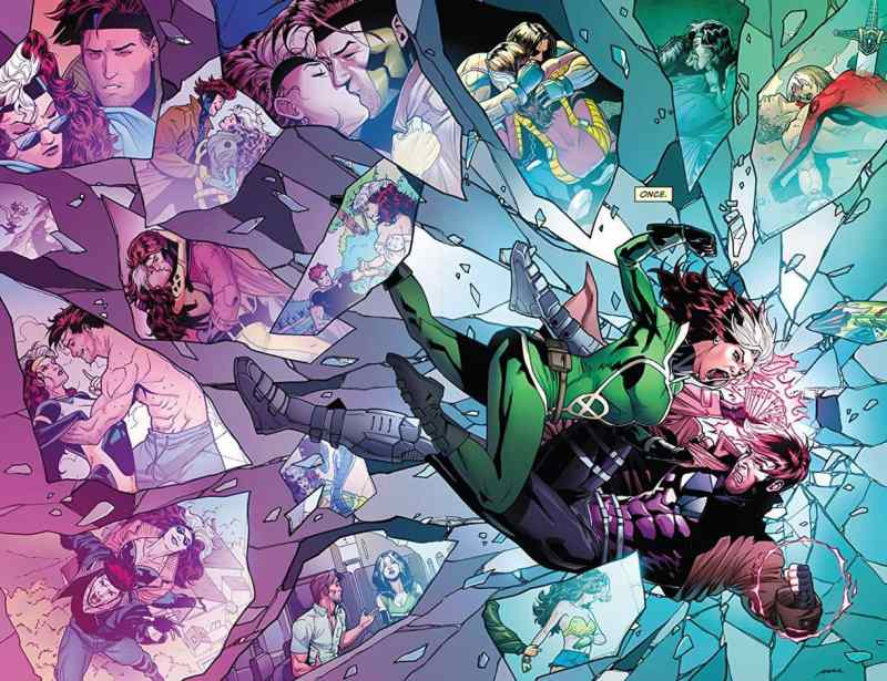 Rouge and Gambit Comic Couples