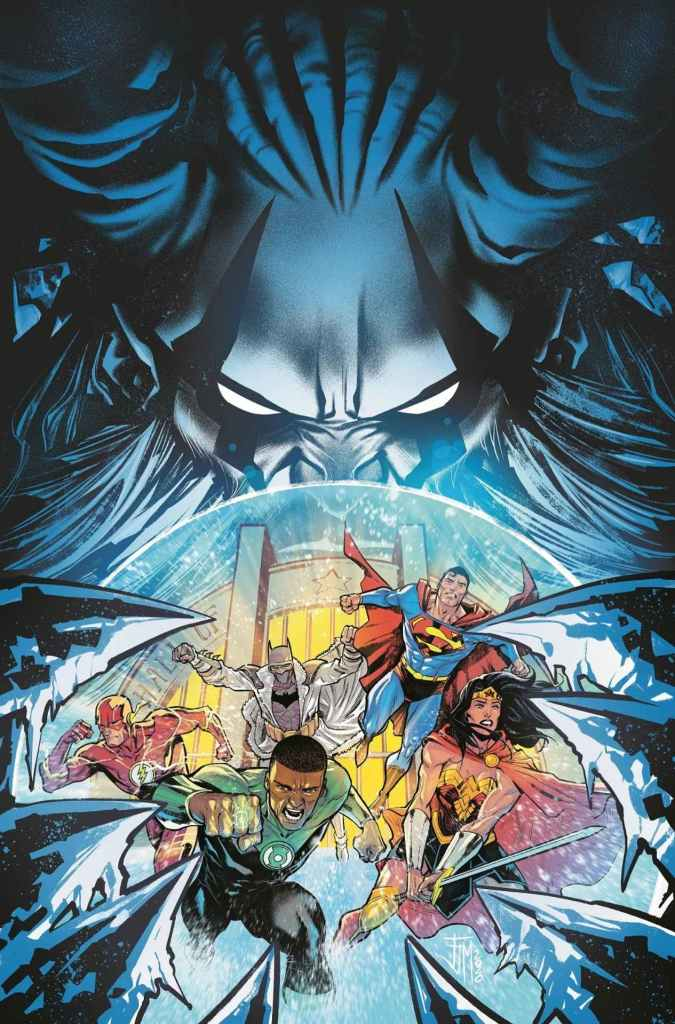 Justice League #58 (on December 15), art by Xermanico and Marco Santucci, with cover by Francis Manapul