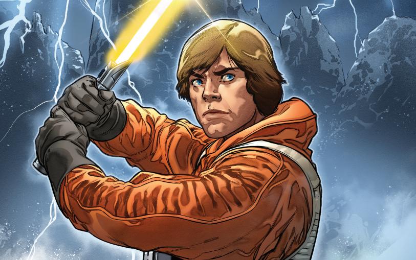 Luke Skywalker on the cover of Star Wars #6