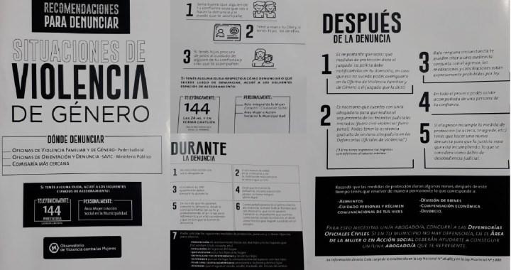 Se presentó una cartilla de recomendaciones para denunciar la Violencia de Género