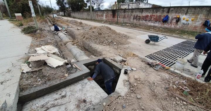 Estiman que desagüe pluvial de Villa Lavalle y A. Saravia se termine en agosto