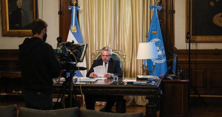 Fernández en la ONU: «Tenemos que ser arquitectos de una nueva casa común»