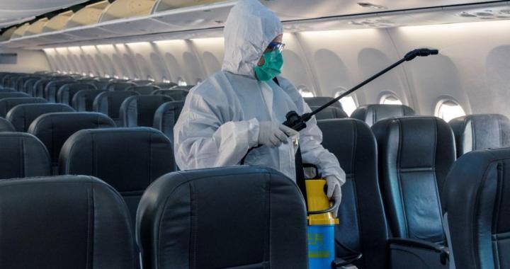 A mediados de octubre volverían los vuelos con un nuevo desinfectante