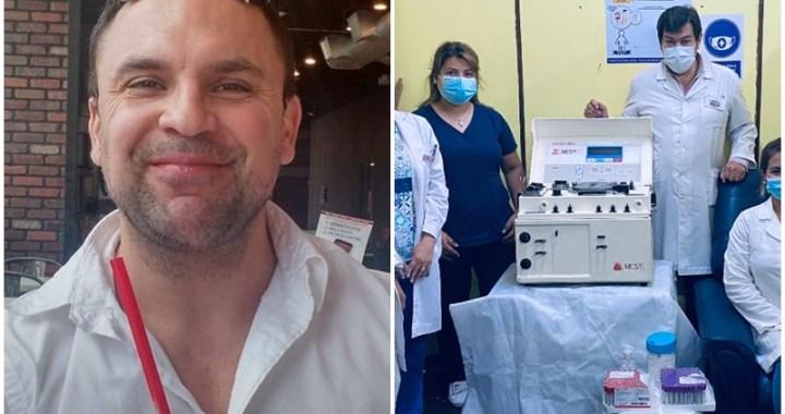 Donó una máquina para extraer plasma a Orán, pero no la usan: «Es una pena»