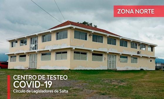 Chau PaRES: los testeos de zona norte se harán en el Círculo de Legisladores de Salta