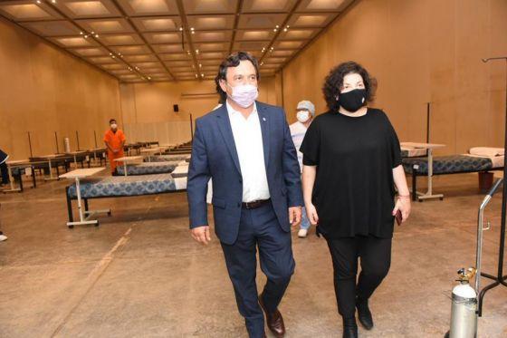 Sáenz recibió a la Ministra de Salud de la Nación y recorrieron instalaciones