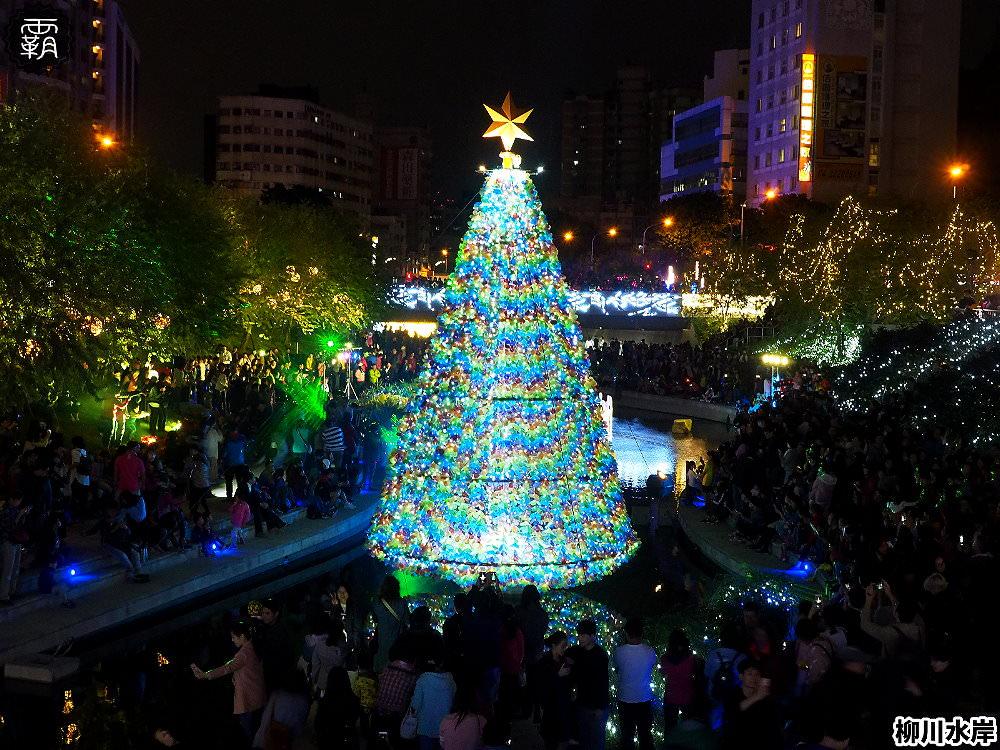 <台中景點> 柳川水岸步道水上聖誕樹亮起來,川川花開映耶誕,最水聖誕樹正式點燈!(2018/12更新)