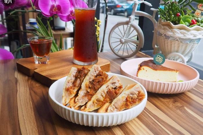 <台中咖啡> Queue cafe咖啡漫嚐,芋泥肉鬆熱壓吐司配手沖咖啡,有鄰家咖啡館的寧靜氛圍!