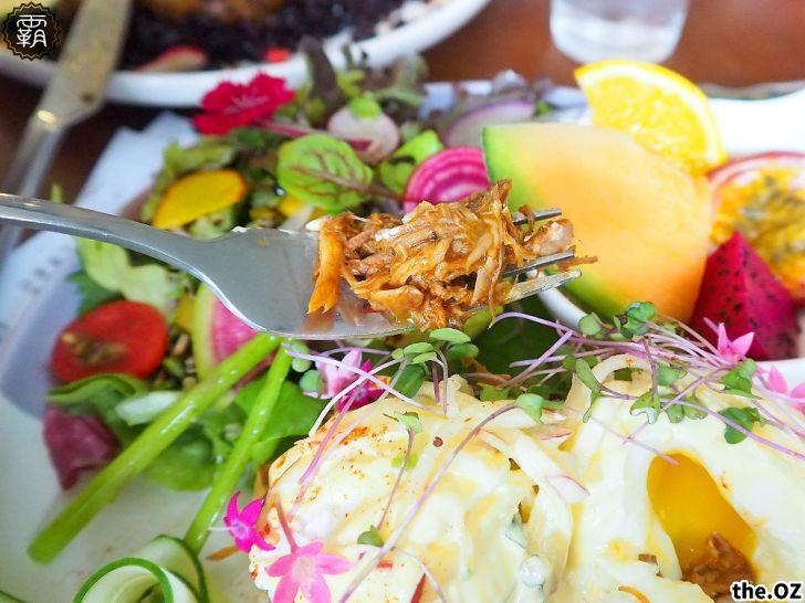 20201028200425 74 - 人氣澳式早午餐,the.OZ早午餐有機生菜配主菜,餐點美味配色鮮明真好拍!