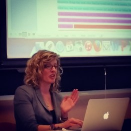 "Marisa Milanese presenting ""The Introduction"" to faculty"