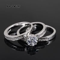 White Gold Cz Wedding Rings Sets