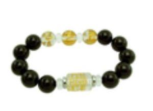 12mm Onyx 3 Zodiac Bracelet for Ox, Snake, Rooster