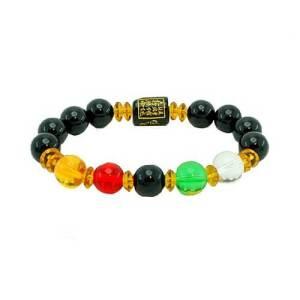 12mm Onyx 5 Elements Balancing Bracelet