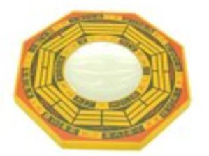 7 Inch Yellow Concave Mirror Bagua