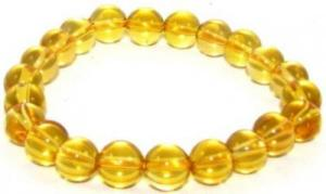 Amber 10mm Round Bracelet for Success Luck