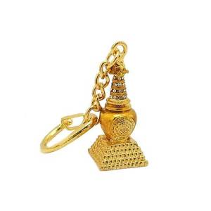 Bejeweled Stupa Key Chain Amulet1