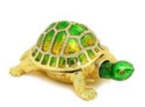 Bejeweled Wish-Fulfilling Green Tortoise