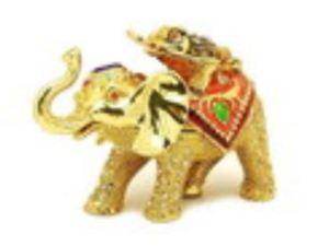 Bejeweled Wish Fulfilling Money Frog on Elephant