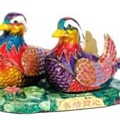 Bejeweled Wish-Fulfilling Pair of Mandarin Ducks