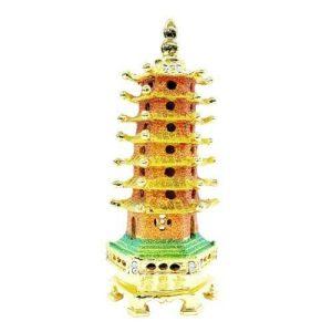 Bejeweled Wish-Fulfilling Seven Level Pagoda