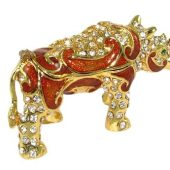 Bejewelled Miniature Wish-Fulfilling Protecting Rhinoceros