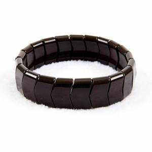 Black Tourmaline Crystal Bangle Shaped Bracelet for Health