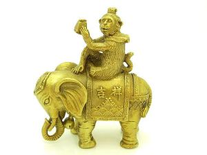 Brass Monkey Riding Elephant1