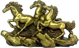 Brass Three Running Horses