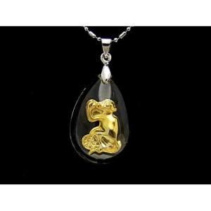 Chinese Horoscope Monkey Pendant Necklace1