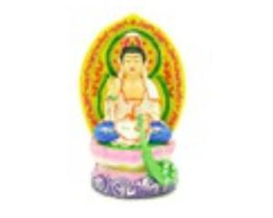 Colorful Goddess Kuan Yin Sitting on Lotus