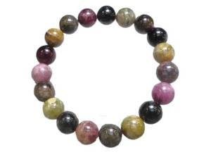 Colourful Tourmaline Crystal Bracelet for Universal Protection