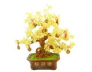 Extravagant Citrine Crystal with 9 Coins Gem Tree
