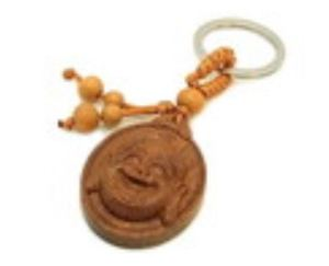 Face of Laughing Buddha Protection Key Ring
