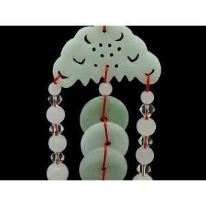 Feng Shui 3 Jade Coins Hanging Tassel1