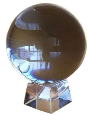 Feng Shui Crystal Globe Enhance Scholastic Luck (60mm)