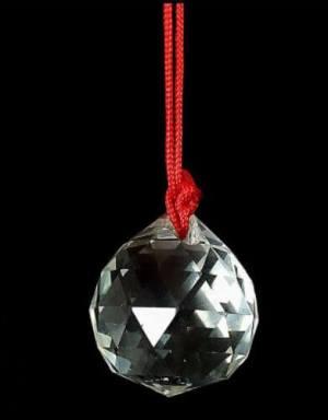 Feng Shui Faceted Crystal Ball 45mm Tassel