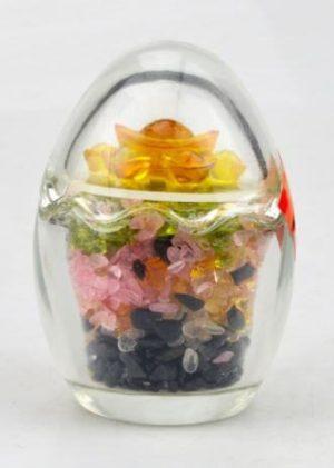 Feng Shui Five Element Crystal Chips Egg