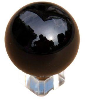 Feng Shui Obsidian Crystal Sphere 80mm