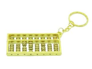 Golden Abacus Feng Shui Keychain