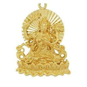 Golden Manjushri Buddha Key Chain1