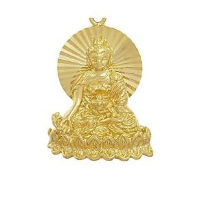 Golden Medicine Buddha Key Chain1